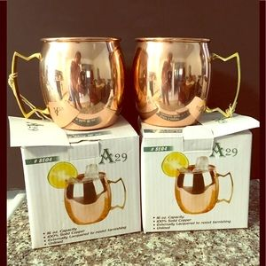 Other - NEW Set of 2 Moscow Mule 100% Copper Mugs 16-Oz